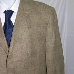 Canali Cashmere Blend Three Roll Two Blazer 48 L